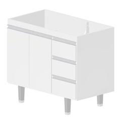 Gabinete em Mdf para Cozinha Siena 100cm Branco - Bonatto