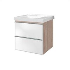 Gabinete em Mdp Blu 60 com Gaveta Espelhada 62,5x60cm Grigio - Bumi Móveis