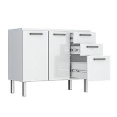Gabinete Eros Flat 120 em Aço 117,1x50cm Branco - Cozimax
