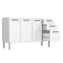 Gabinete Eros Flat 150 em Aço 144,6x50cm Branco - Cozimax
