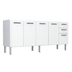 Gabinete Eros Flat 200 em Aço 192x50cm Branco  - Cozimax