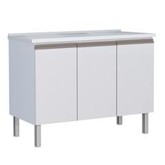 Gabinete Gaia 114 de Aço 115x57,2cm Branco - Cozimax