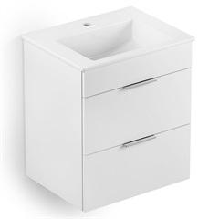Gabinete Integrado com Lavatório Cube 65x43m Branco - Celite