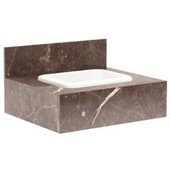 Gabinete para Banheiro com Cuba Embutida Max 60 32x60cm Trufa - Bumi Móveis
