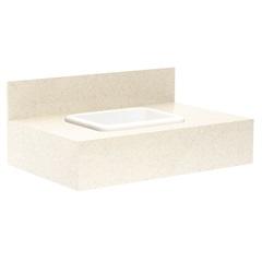 Gabinete para Banheiro com Cuba Embutida Max 80 32x80cm Bianco - Bumi Móveis