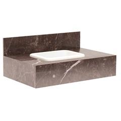 Gabinete para Banheiro com Cuba Embutida Max 80 32x80cm Trufa - Bumi Móveis