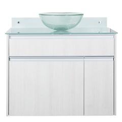 Gabinete para Banheiro com Cuba Parati 82x75cm Cinza - Bonatto