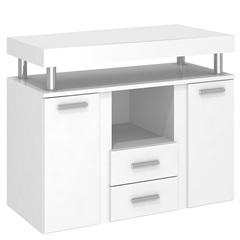 Gabinete para Banheiro em Mdf Aprilia sem Cuba 80cm Branco - Darabas Agardi