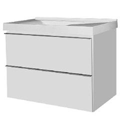 Gabinete para Banheiro em Mdf Blu 80cm Branco - Bumi Móveis