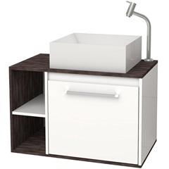 Gabinete para Banheiro em Mdf com Cuba Petúnia 60cm Branco E Dakota - Cozimax