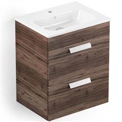 Gabinete para Banheiro em Mdf com Lavatório Debba 45x60cm Branco E Castaine - Roca