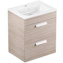 Gabinete para Banheiro em Mdf com Lavatório Debba 45x80cm Branco E Amantea - Roca