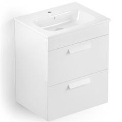 Gabinete para Banheiro em Mdf com Lavatório Debba 45x80cm Branco - Roca
