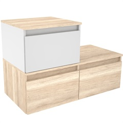 Gabinete para Banheiro em Mdf Florença 90x60cm Mezzo Blanco - Darabas Agardi