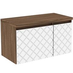 Gabinete para Banheiro em Mdf Mônaco 80cm Terracota E Branco - Darabas Agardi