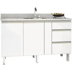 Gabinete para Cozinha em Aço Gaia 146,4 X 91cm Branco - Cozimax
