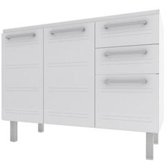 Gabinete para Cozinha em Aço Zeus Flat 117,2cm Branco - Cozimax