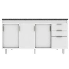 Gabinete para Cozinha em Mdf Barcelona 154cm Branco - Darabas Agardi