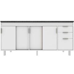 Gabinete para Cozinha em Mdf Barcelona 174cm Branco - Darabas Agardi