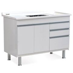 Gabinete para Cozinha em Mdf Ferrara 120x70cm Branco - Corso
