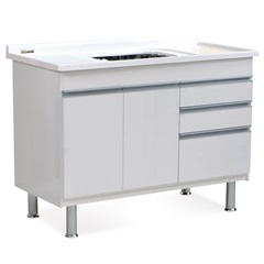 Gabinete para Cozinha em Mdf Ferrara 120x70cm Branco - Irmãos Corso
