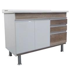 Gabinete para Cozinha em Mdf Ferrara 120x70cm Carvalho - Corso