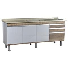 Gabinete para Cozinha em Mdf Ferrara 200x70cm Carvalho - Corso