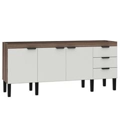 Gabinete para Cozinha em Mdf Flamingo 86x174cm Branco E Tamarindo - Cozimax