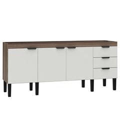 Gabinete para Cozinha em Mdf Flamingo 86x194cm Branco E Tamarindo - Cozimax