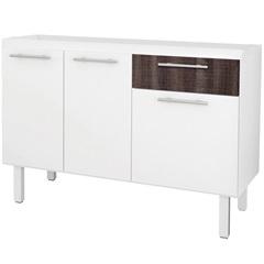 Gabinete para Cozinha em Mdf Gaivota 120x50cm Branco E Dakota - Cozimax