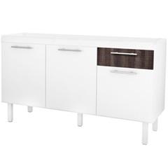 Gabinete para Cozinha em Mdf Gaivota 150x50cm Branco E Dakota - Cozimax