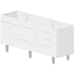 Gabinete para Cozinha em Mdf Life 180cm Branco - Bonatto