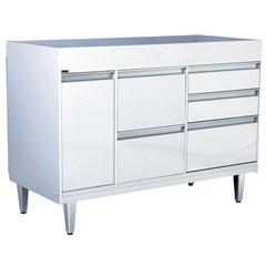 Gabinete para Cozinha em Mdf Viseu 86,5x120cm Branco - Irmãos Corso