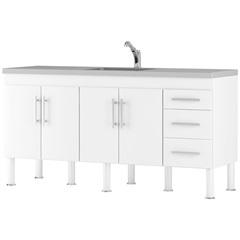 Gabinete para Cozinha em Mdp Flex 174x80cm Branco - MGM Móveis