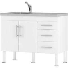 Gabinete para Cozinha em Mdp Flex 80x114cm Branco - MGM Móveis
