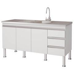 Gabinete para Cozinha em Mdp Ibiza 80x143,5cm Branco - MGM Móveis