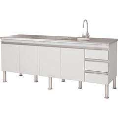 Gabinete para Cozinha em Mdp Ibiza 80x193,5cm Branco - MGM Móveis