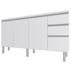 Gabinete para Cozinha em Mdp Potira para Pia de 150cm Branco - Cozimax