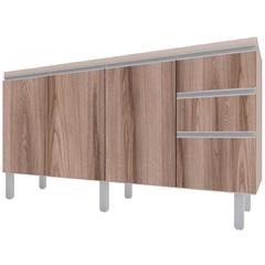 Gabinete para Cozinha em Mdp Potira para Pia de 150cm Nude E Tamarindo - Cozimax