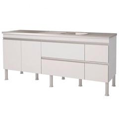 Gabinete para Cozinha em Mdp Prisma 193,5x86cm Branco - MGM Móveis