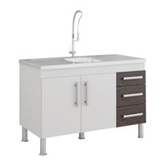 Gabinete para Cozinha Flex 80x114cm Branco E Café - MGM Móveis