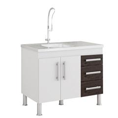 Gabinete para Cozinha Flex 80x94cm Branco E Café - MGM