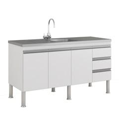 Gabinete para Cozinha Ibiza 80x144cm Amêndoa E Branco - MGM