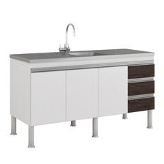 Gabinete para Cozinha Ibiza 80x144cm Branco E Café - MGM