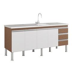 Gabinete para Cozinha Ibiza 80x174cm Amêndoa E Branco - MGM