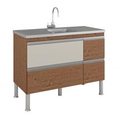 Gabinete para Cozinha Prisma 86x114cm Amêndoa E Off White - MGM