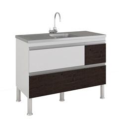 Gabinete para Cozinha Prisma 86x114cm Branco E Café - MGM
