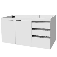 Gabinete para Pia 120cm Blu 2 Portas Branco - Bumi Móveis