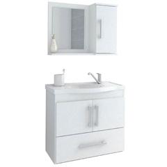 Gabinete Suspenso para Banheiro Atenas 56,5x63,5cm Branco - MGM Móveis
