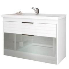 Gabinete Suspenso para Banheiro Azaléia 56x79,3cm Branco - MGM